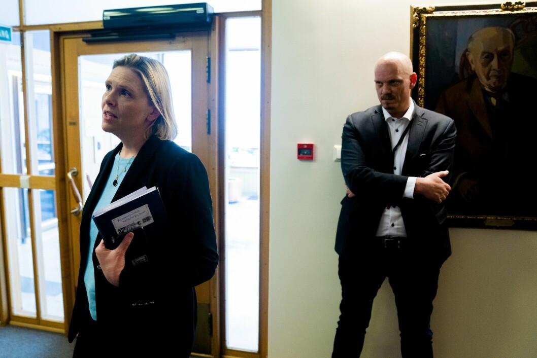 Sylvi Listhaugs spesialrådgiver Kristian P. Larssons (til høyre) klage førte ikke frem i PFU.