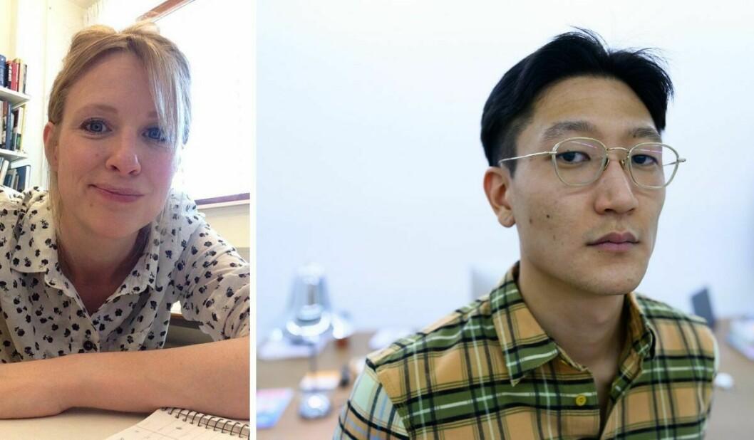 Heidi Bale Amundsen, styreleder i Norsk kritikerlag, og Subjekt-redaktør Danby Choi.
