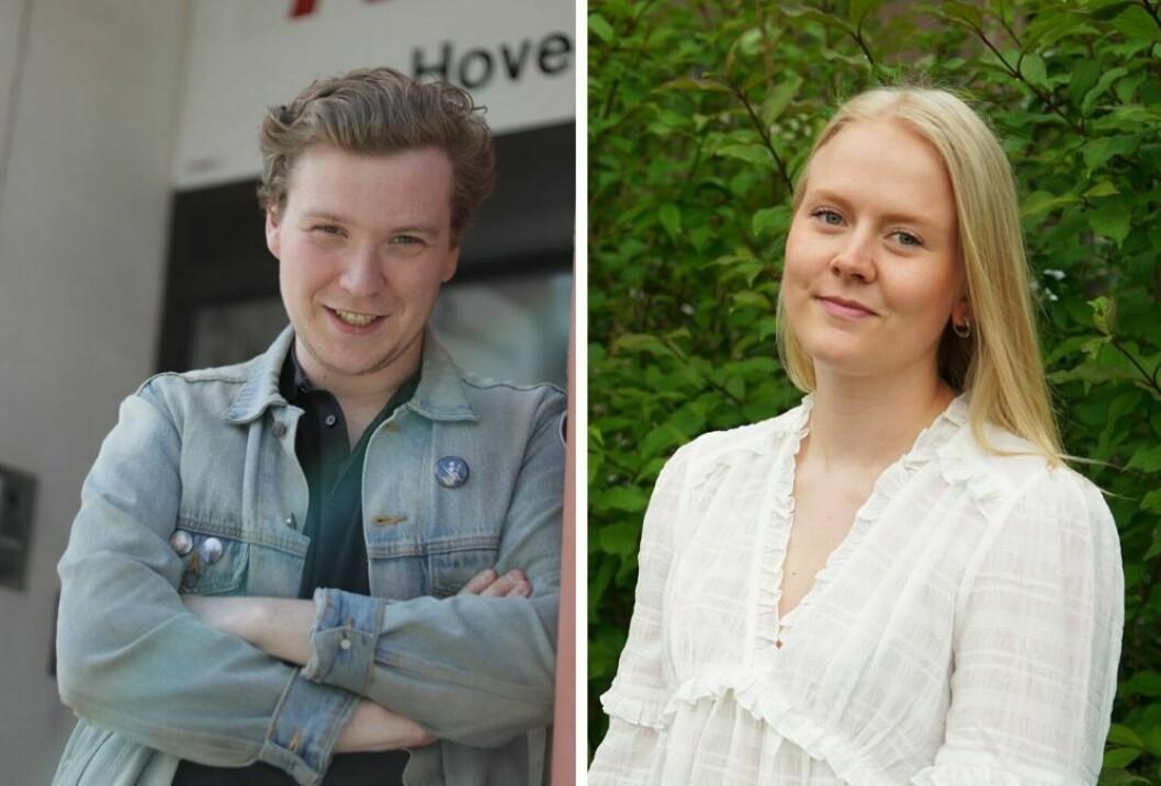 23-åringene Øystein Engh og Frida Ravn Rømø har begge flyttet til Nord-Norge for å jobbe.  (Foto: Vilde Øines Nybakken / Erik Andreassen).