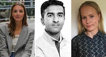 Louise (27), Ali (26) og Sophie (29) har fått fast jobb i NRK Nyheter