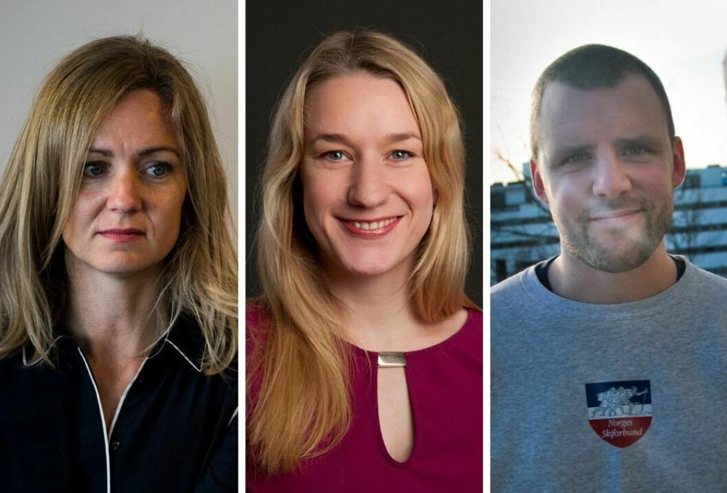 Inger Merete Hobbelstad og Erle Marie Sørheim er kritisk til NRK P3 dokumentar. (t.h) Redaksjonssjef Daniel Ramberg.