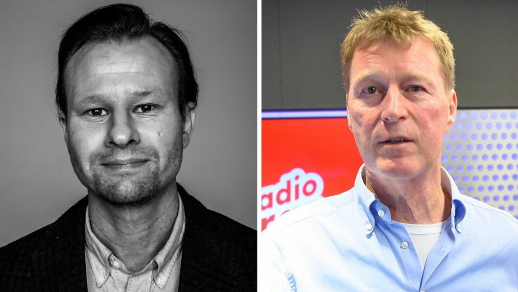 Klubbleder i Bauer Media, Kjetil Kjær Andersland, og administrerende direktør Jim Receveur.