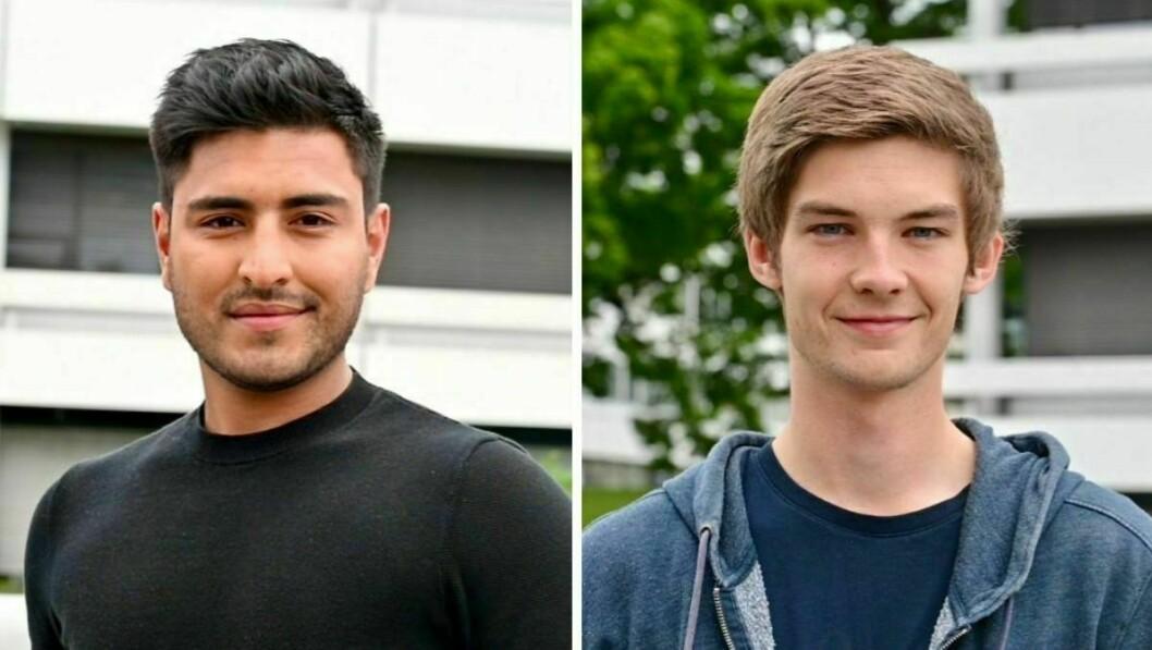 To av NRKs mange vikarer denne sommeren, Sunny Sharma og Tarjei Mo Batalden.