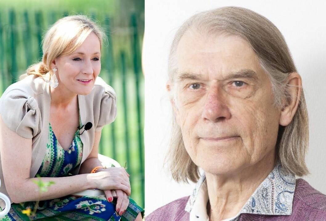 J.K. Rowling og Jan Bojer Vindheim, som er skribent og aktivist.