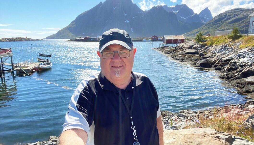 Ansvarlig redaktør Erling Wåge i Fjordenes Tidende på tur i Lofoten.