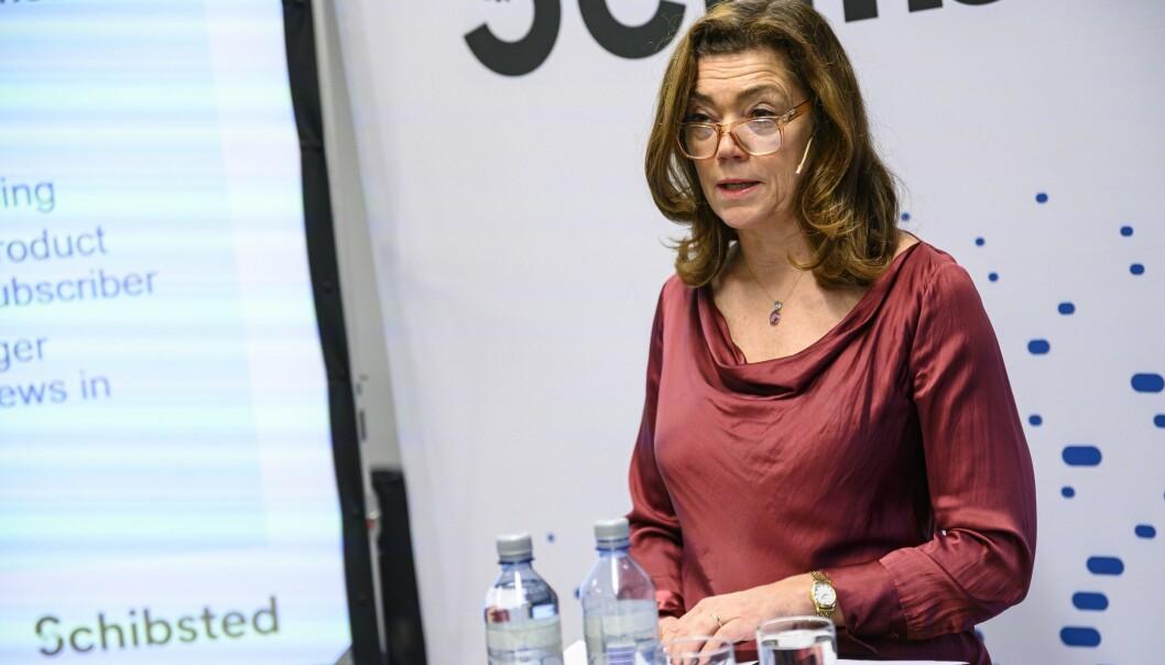 Konsernsjef i Schibsted, Kristin Skogen Lund.