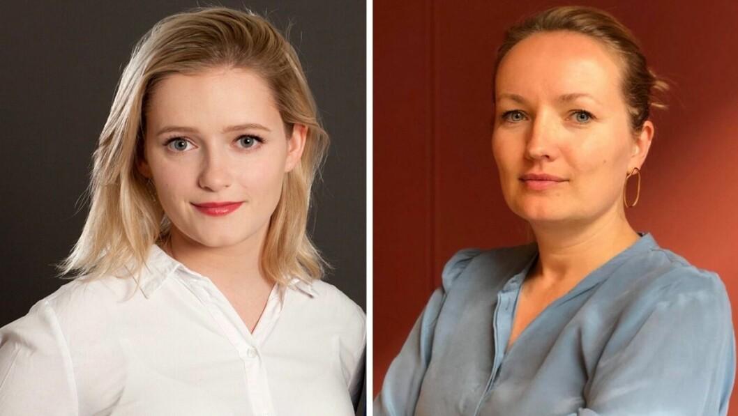 Lokalpolitiker Julia Sandstø og Altså-redaktør Ida Eliassen-Coker.