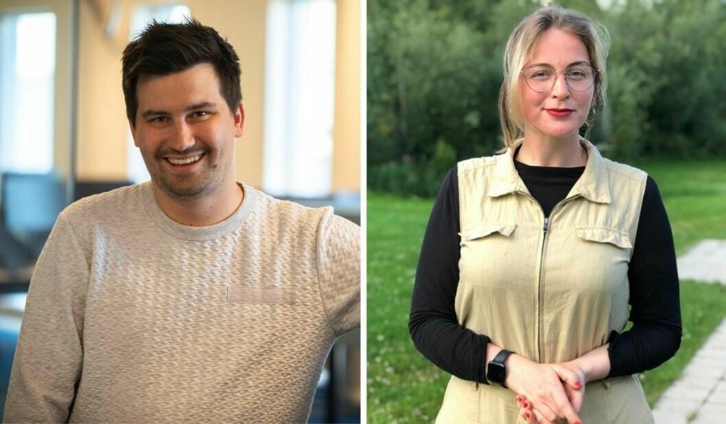 NRK Sápmis redaksjonssjef for nyheter, Simon Piera Paulsen (til venstre) og redaksjonssjef Monica Falao Pettersen ser begge frem til det nye talentprogrammet kommer i gang.