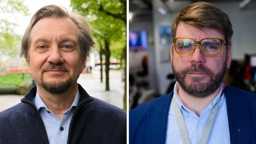 Presseetiker Trygve Aas Olsen og sjefredaktør i Bergensavisen, Sigvald Sveinbjørnsson.