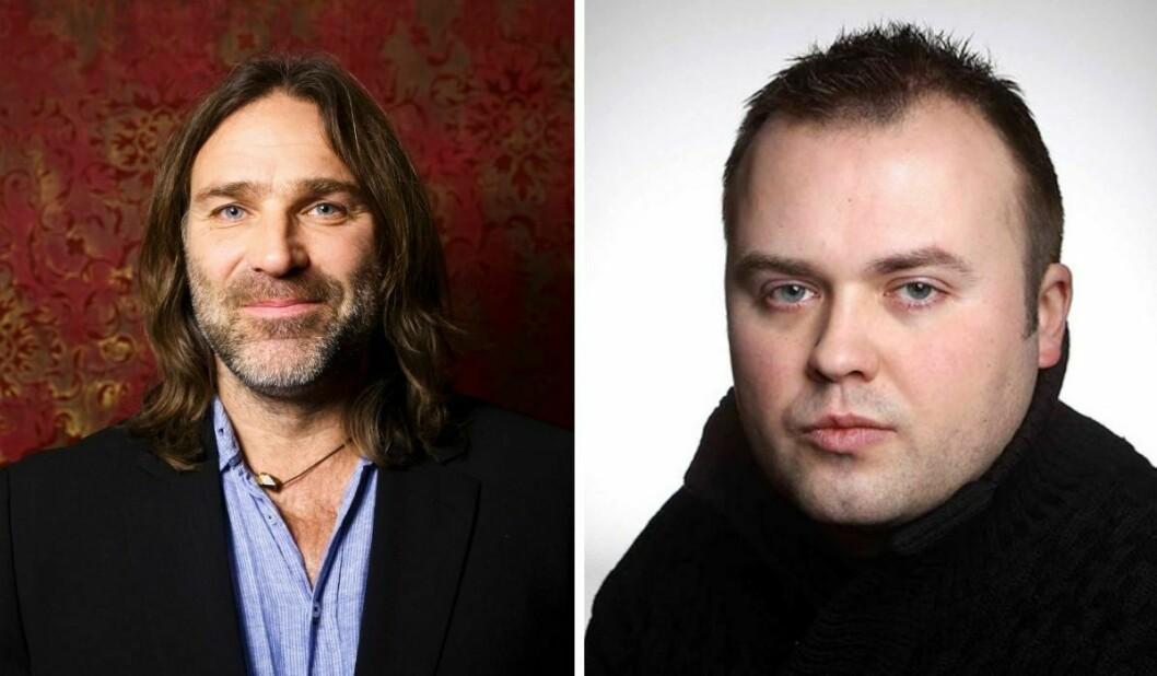 Christer Falck (til venstre) går hardt ut mot VG-journalist Thomas Talseth.