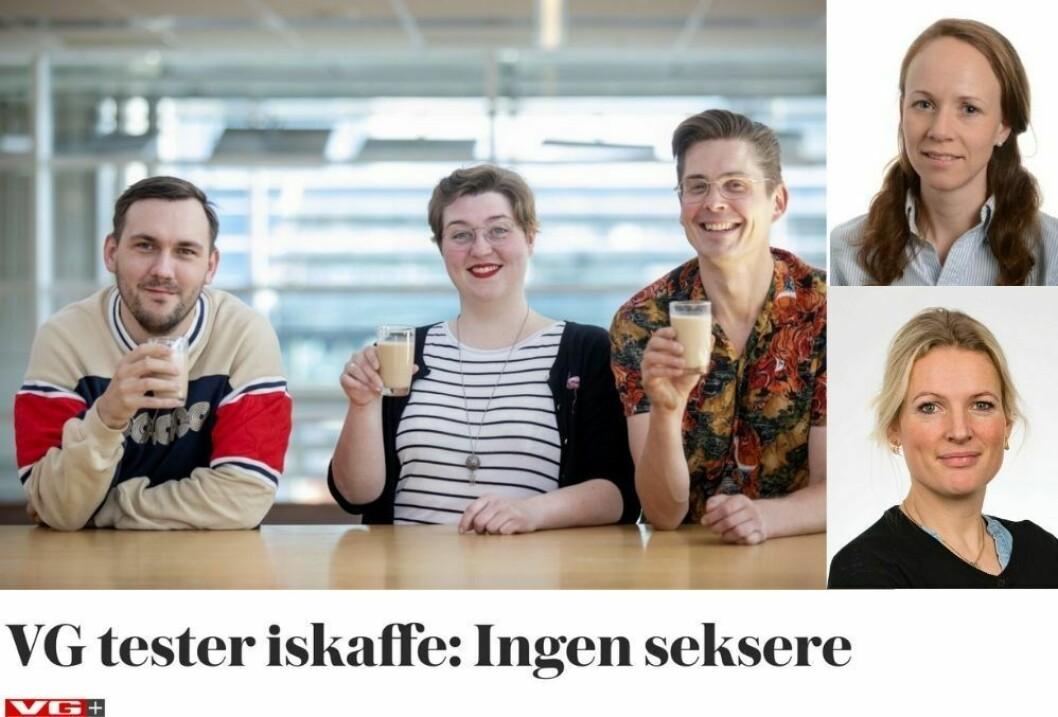 VG+ har testet iskaffe. Presseetiker Nina Kvalheim (øverst) er skeptisk til en av dommerens bindinger, og redaksjonell leder Beate Koren i VG+ svarer på kritikken (nederst).