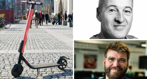 Riksmediene skriver om «el-sparkesykler». I Bergen har de fått et helt annet navn