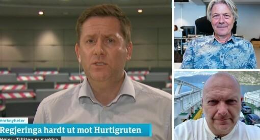 Kritisk til Hurtigrutens mediehåndtering: – Bare vrøvl som kommer ut
