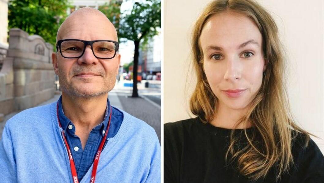 VGTV-redaktør Rolf Sønstelie og tidligere Spotify-sjef og musikkanmelder Malin Kulseth.