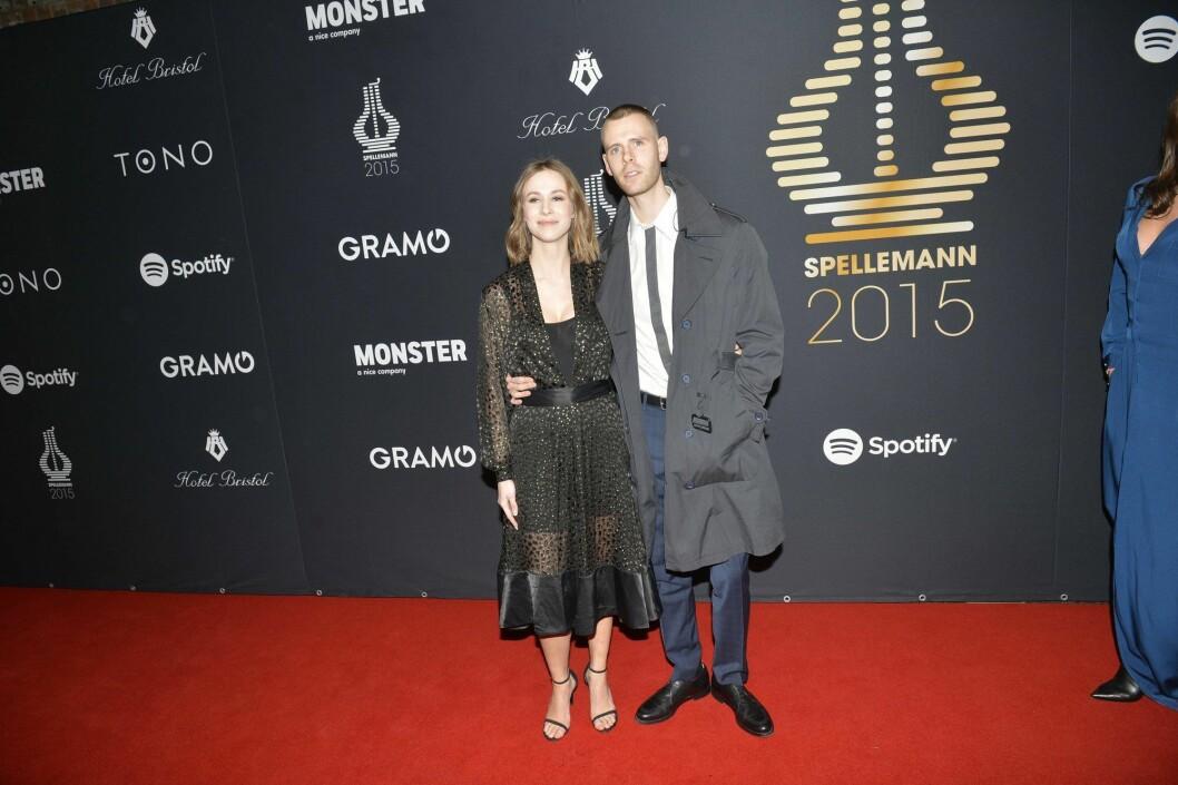 Lars Vaular og Malin Kulseth under Spellemannsprisen i 2015.