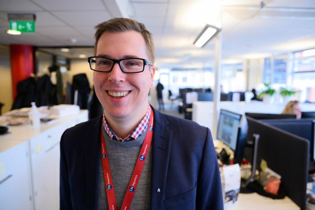 Sjefredaktør og administrerande direktør Eirik Hoff Lysholm i Dagsavisen.