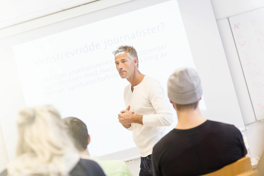 Studieleder Lars Richard Bache på journalistikk ved Høyskolen Kristiania.