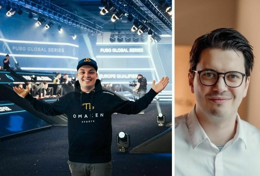 Youtuber Joachim «NoobworK» Haraldsen og kreativ leder Eivind Hammer Myhre i PR-operatørene.
