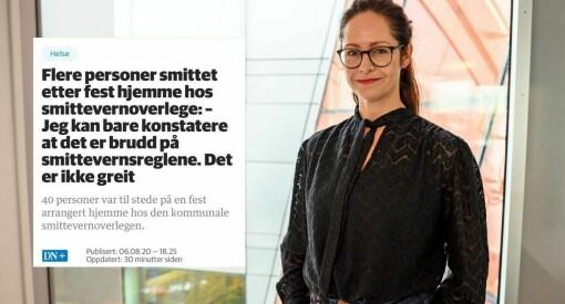 Reagerer på Dagens Næringslivs korona-vinkling: –Uredelig journalistikk