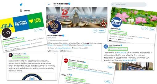 Twitter merker statsstyrte medier og offisielle kontoer