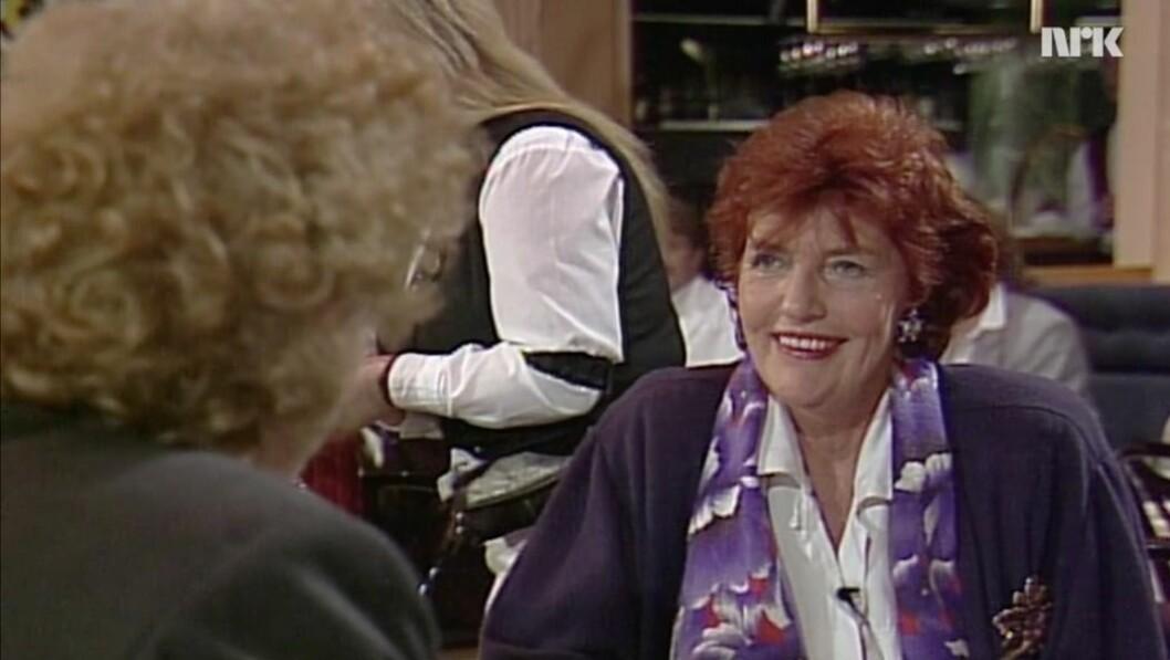 Brita Blomquist, her avbildet som gjest i NRK-programmet Hotell.