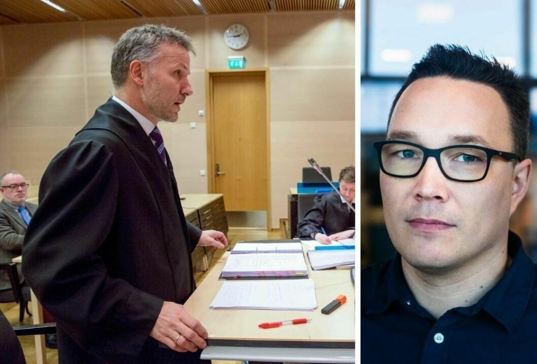 NRKs Robin Mortensen (t.h) beklager for at Nordnytt glemte å sladde narkotiltalt.