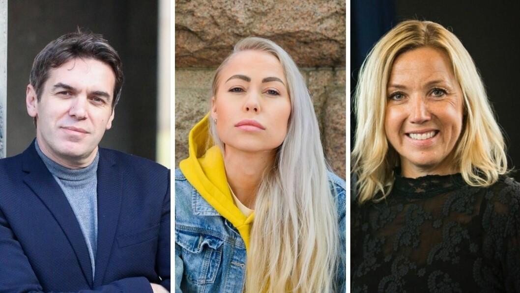 Tidligere PFU-medlem og nå rådgiver i Tankesmien Agenda, Sylo Taraku, Aftenposten-journalist Ingeborg Senneset og VG+-redaktør Jane Throndsen.