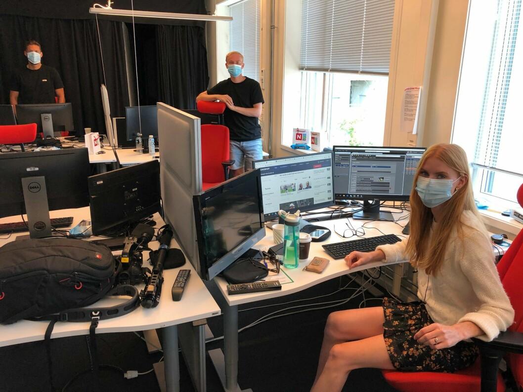 I Discovery er de ansatte på jobb pålagt å bruke munnbind.
