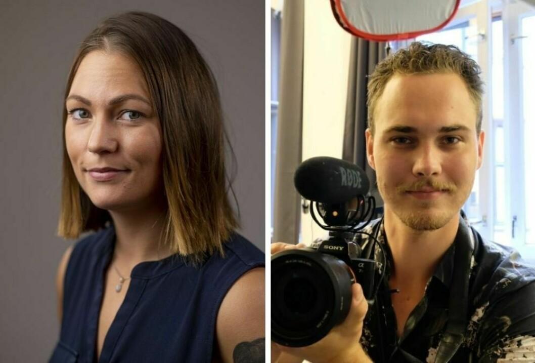 Line Cecilie Vågen og Ludvig Gundersen er ansatt i Avfallsbransjen.no