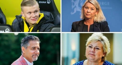Politikere, politikere, politikere - og én fotballspiller. Dette er de mest omtalte personene hittil i år