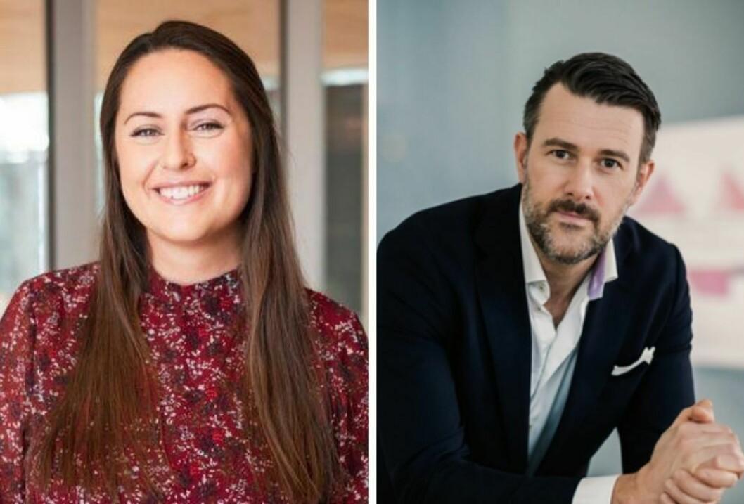 Nina Hauge Schage og Henrik Lervold overtar lederansvaret for marked, kundearbeid og kommunikasjon i KPMG.