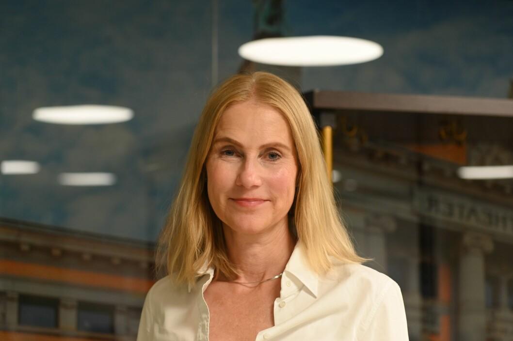 Advokat Camilla Sophie Vislie representerer Dagens Næringsliv i Oslo tingrett.