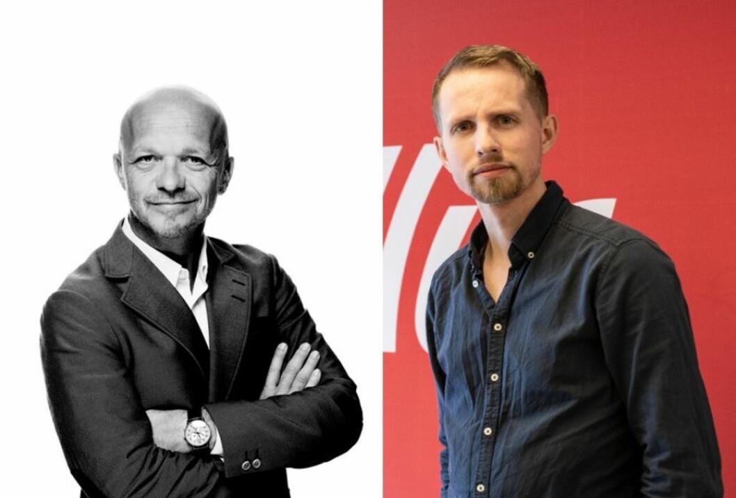 Geir Ove Harnes i GK og sjefredaktør Helge Nitteberg i Nordlys.
