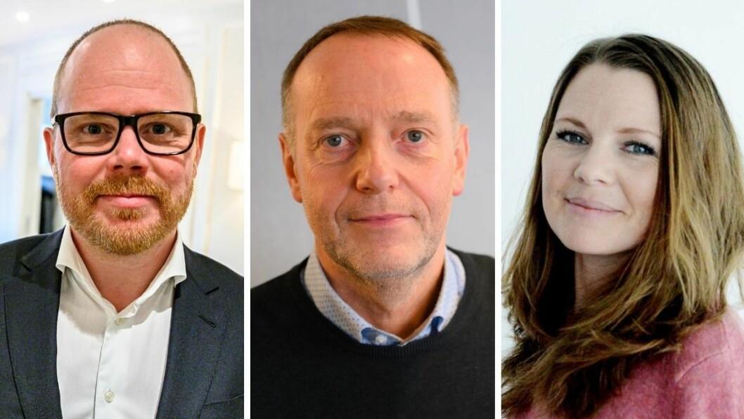 VG-sjefredaktør Gard Steiro, sjefredaktør i Avisa Nordland, Jan-Eirik Hanssen, og Amedias digitale utviklingssjef, Eivor Jerpåsen.