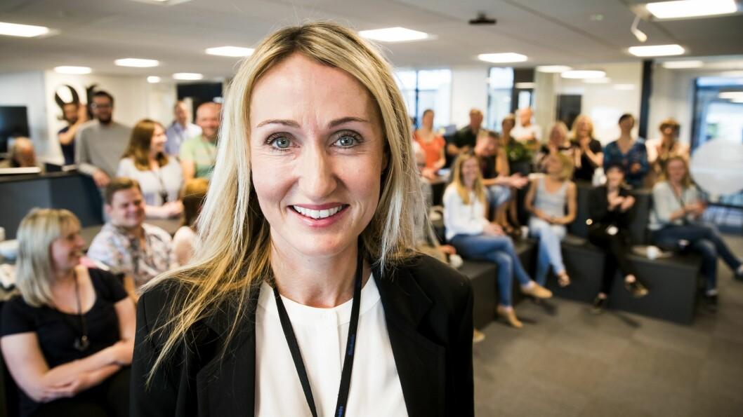 Adresseavisens sjefredaktør Kirsti Husby er strålende fornøyd med at avisen har fått 6000 flere abonnenter enn de hadde  ved inngangen til 2020.