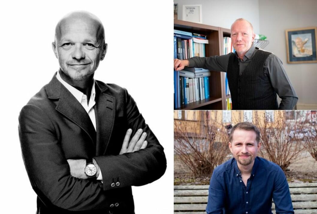 Seniorrådgiver og partner Geir Ove Harnes i GK, generalsekretær Arne Jensen i NR og sjefredaktør Helge Nitteberg i Nordlys.