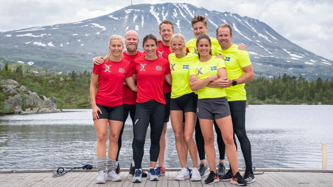 Kjente norske og svenske idrettsutøvere møtes i TV 2-programmet «Landskampen»,