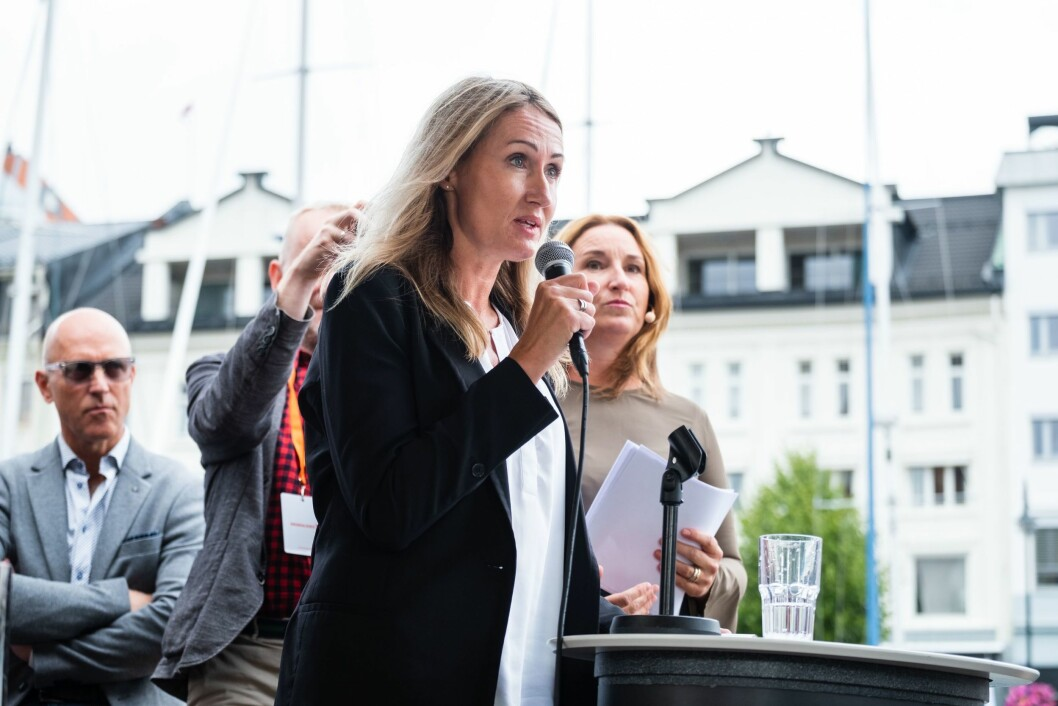 Kirsti Husby, sjefredaktør i Adresseavisen under Arendalsuka i 2019.
