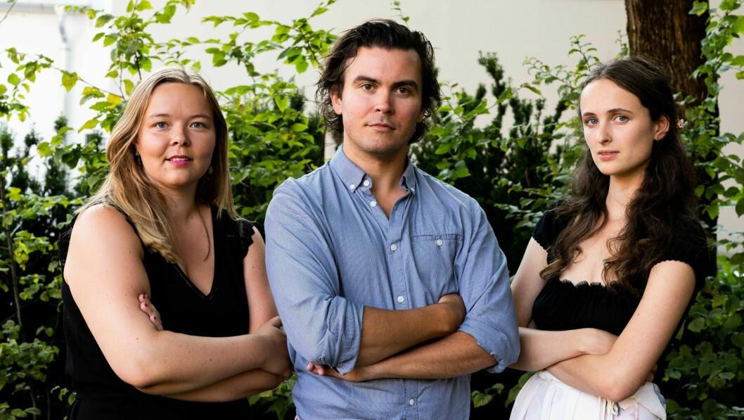Sivilisasjonen-redaktørene Julie Brundtland Løvseth, Carl Korsnes og Aftur Nerdrum.
