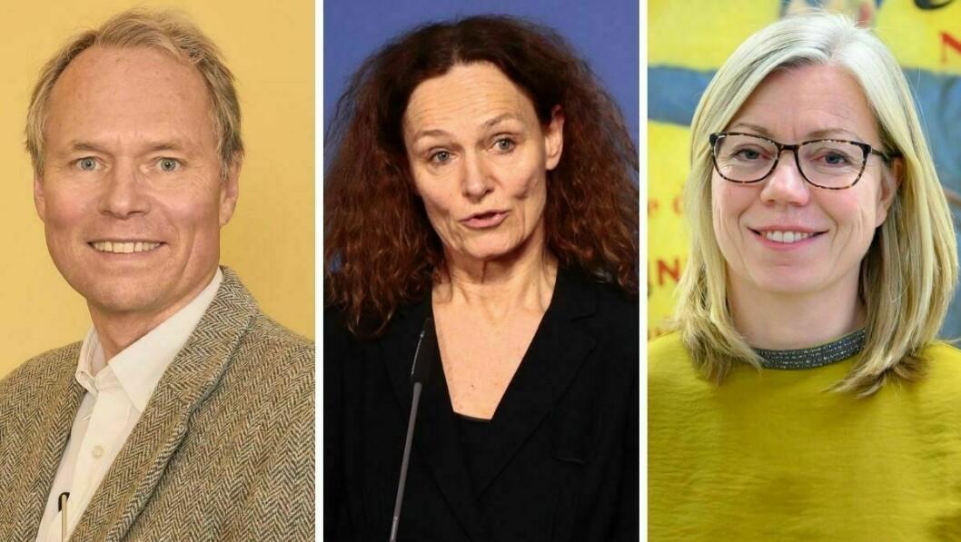 UiO-professor Hans Graver, FHI-direktør Camilla Stoltenberg og Aftenpostens redaktør Trine Eilertsen.