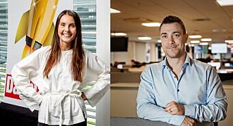Hege Varsi (32) og Jan Thomas Holmlund (37) er ansatt som redaksjonssjefer i Dagbladet