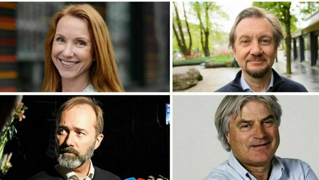 Professor Kristin Skare Orgeret , presseetiker Trygve Aas Olsen, Trond Giske og mediekritiker Gunnar Bodahl-Johansen.