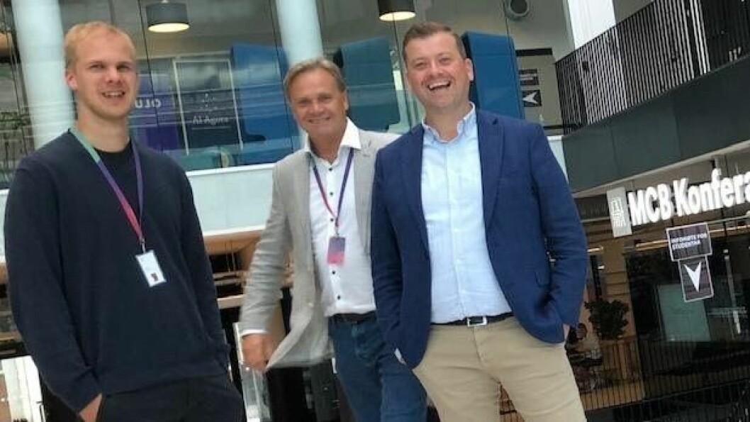 Nurofy fra venstre Joachim Tvedt, (CEO), Lars Erik Ørgersen (COO) og til høyre nyansatt Karl Espen Iversen (CCO)