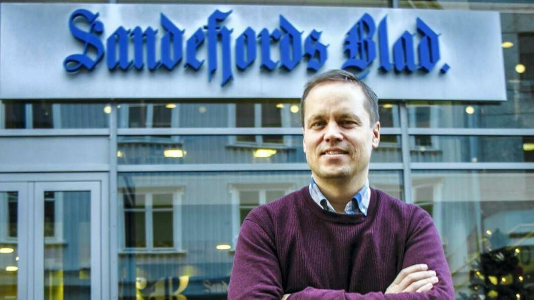 Sandefjords Blad-redaktør Steinar Ulrichsen.