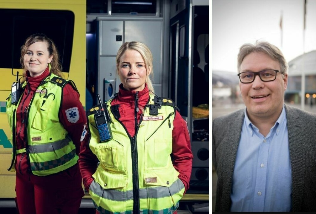 Politisk kommentator Skjalg Fjellheim i Nordlys (t.h) hyller NRK programmet «113».
