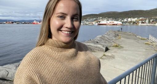 Solveig (25) hadde aldri vært lenger nord enn Trondheim. Nå har hun fått fast journalist-jobb i Finnmark