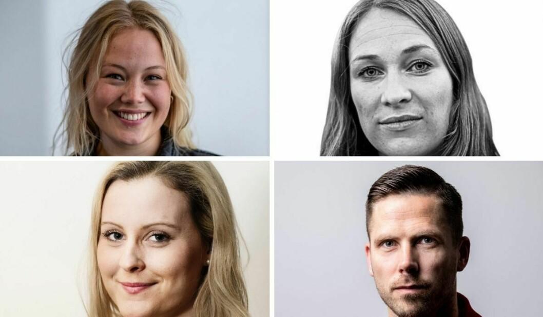 Guro Holm Bergesen (31), Liv Solli Okkenhaug (39),  Hanne Louise Åkernes (34) og HelgeO. Svela (41) er ansatt i nye lederstillinger i redaksjonen i Bergens Tidende.