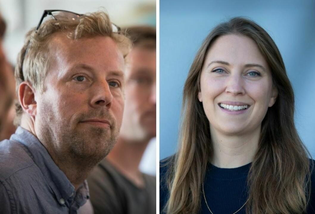 Produktsjef Erik Saastad og Helene Svabø i Schibsted.