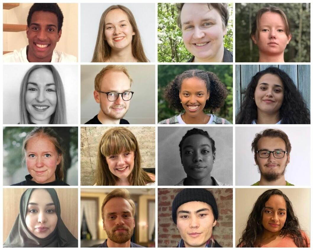Disse 16 utgjør historiens første ytringsfrihetsråd for ungdom. Foto: Fritt Ord