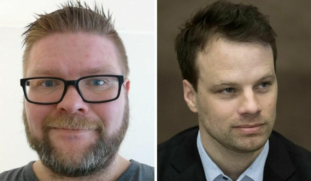 Magnus Bernhardsen og Frps stortingsrepresentant Jon Helgheim.